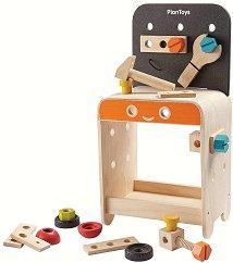 Детска работилница с инструменти - Комплект дървени играчки -