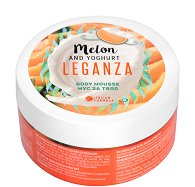Leganza Melon & Yoghurt Body Mousse - Мус за тяло с йогурт и аромат на пъпеш - душ гел