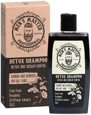 Men's Master Professional Detox Shampooo - Мъжки шампоан за мазна коса с детокс ефект - гел