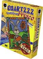 """Оцветявай с цветен пясък - Заек с морков - Творчески комплект от серията """"Glossy Fresco"""" -"""