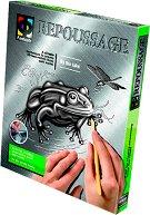 """Създай сам гравюра - Жабка в езеро - Творчески комплект от серията """"Repoussage"""" - творчески комплект"""
