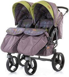 Бебешка количка за близнаци - Twix 2019 - С 4 колела - количка