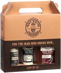 Подаръчен комплект за мъже - Men's Master Professional - Шампоан, крем за лице и дезодорант против изпотяване -