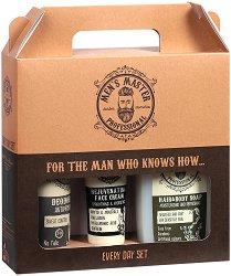 Подаръчен комплект за мъже - Men's Master Professional - Освежаващ сапун за коса и тяло, крем за лице и дезодорант против изпотяване -