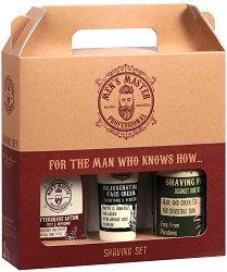 Подаръчен комплект за мъже - Men's Master Professional - Пяна за бръснене, афтършейв лосион и крем за лице -