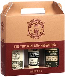 Подаръчен комплект за мъже - Men's Master Professional - Пяна за бръснене, афтършейв балсам и крем за лице - продукт