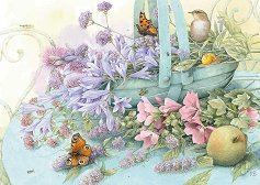 """Кошница с цветя - Маржолен Бастен (Marjolein Bastin) : От колекцията """"Premium Quality"""" - пъзел"""