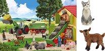 Жътва във фермата - Комплект от пъзел и 2 фигурки на животни - пъзел