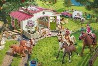 Конна езда в провинцията - Комплект от пъзел, фигурка и аксесоари -