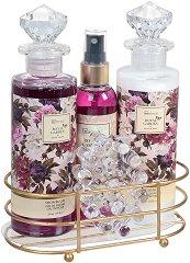 IDC Institute Royal Garden - Подаръчен комплект с козметика за тяло с аромат на роза и божур - продукт