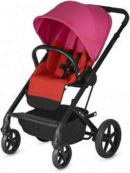 Комбинирана бебешка количка - Balios S 2019: Fancy pink - С 4 колела -