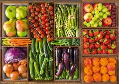 """Пресни плодове и зеленчуци - От колекцията """"Premium Quality"""" - пъзел"""
