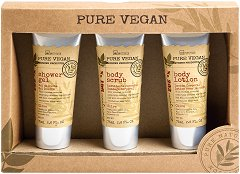 IDC Institute Pure Vegan - Подаръчен комплект с козметика за баня -