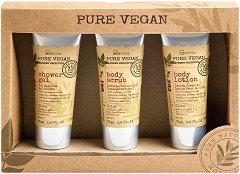 IDC Institute Pure Vegan - Подаръчен комплект с козметика за баня - маска