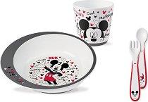 Детски комплект за хранене - Мики Маус - За бебета над 9 месеца - продукт
