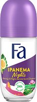 Fa Brazilian Vibes Ipanema Nights Roll-On Deodorant - Дамски ролон дезодорант с екстракт от маракуя и аромат на жасмин - дезодорант
