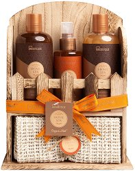 IDC Institude Home SPA - Подаръчен комплект с козметика за баня с аромат на портокал и нероли -