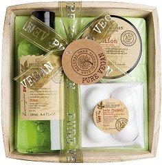 IDC Institute Pure Vegan - Подаръчен комплект с козметика за баня - дезодорант