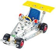 """Състезателна кола - Метален конструктор от серията """"Tronico: Silver"""" -"""