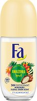 Fa Brazilian Vibes Amazonia Spirit Roll-On Deodorant - Дамски ролон дезодорант с флорално-зелен аромат - дезодорант