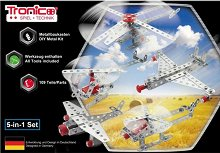 """Метален конструктор 5 в 1 - Летателни машини - От серията """"Tronico: Silver"""" - играчка"""