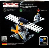 """Самолет - Метален конструктор със соларно задвижване от серията """"Tronico: Silver"""" - играчка"""