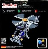 """Хеликоптер - Метален конструктор със соларно задвижване от серията """"Tronico: Silver"""" -"""