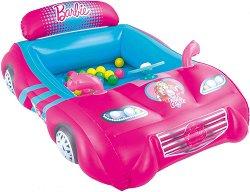 Надуваема кола - Barbie - Комплект с 25 цветни топки за игра -