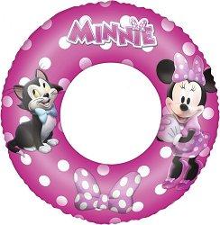 Детски надуваем пояс - Мини Маус - С външен диаметър 56 cm - топка