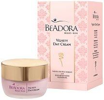 Beadora Bright Rose Velvety Day Cream - Кадифен дневен крем за лице за суха и комбинирана кожа - крем