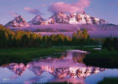 """Бленуване - Национален парк Гранд Тетон, Уайоминг - Родни Лок Джуниър (Rodney Lough Jr) : От колекцията """"Premium Quality"""" - пъзел"""