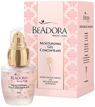 Beadora Bright Rose Moisturizing Gel Concentrate - Концентиран овлажняващ гел за лице - лосион