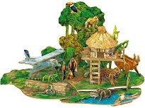 """Амазонска дъждовна гора - 3D пъзел от колекцията """"National Geographic Kids"""" -"""
