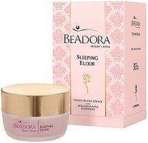 Beadora Bright Rose Sleeping Elixir - Нощен безводен еликсир за суха към нормална кожа - крем