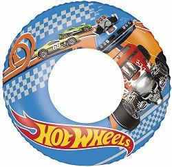 Детски надуваем пояс - Hot Wheels - С външен диаметър 56 cm - играчка