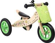 Be Happy - Детска дървен триколка 2 в 1