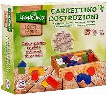 Детски дървен конструктор - Комплект от 25 елемента - играчка