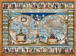 Карта на света от 1639 година - пъзел