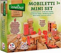 Мебели за трапезария - Дървено обзавеждане за куклена къща -