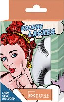 IDC Design Volume Lashes - Изкуствени мигли за обем в комплект с лепило -