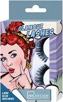IDC Design Glamour Lashes - Изкуствени мигли в комплект с лепило -