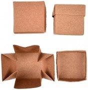 Кутии от крафт картон - Куб - Комплект от 12 броя за декориране
