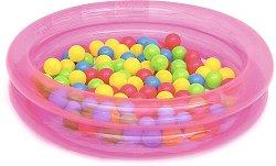 Надуваем детски басейн - Комплект с 50 цветни топки за игра -