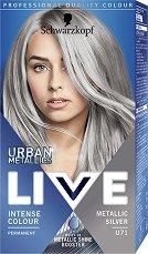 Schwarzkopf Live Urban Metallics Permanent Intensive Colour - Трайна крем боя за коса с метален оттенък - шампоан