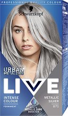 Schwarzkopf Live Urban Metallics Permanent Intensive Colour - Трайна крем боя за коса с метален оттенък - фон дьо тен