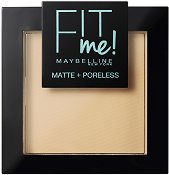 Maybelline Fit Me Matte + Poreless Powder - Матираща компактна пудра за лице - фон дьо тен