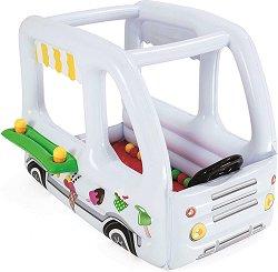Надуваем камион за сладолед - Комплект с 10 цветни топки и аксесоари - играчка