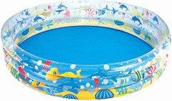 Надуваем детски басейн - Морски обитатели - С размери 183 х 33 cm -