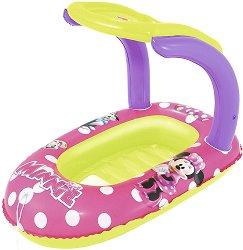 Надуваема детска лодка със сенник - Мини Маус - топка