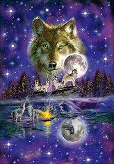 """Вълк на лунна светлина - От колекцията """"Premium Quality"""" - пъзел"""